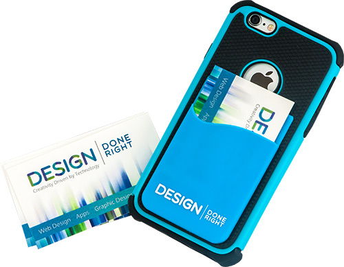 corporate designs interested in purchasing a custom credit card holder - Custom Adhesive Cell Phone Card Holder