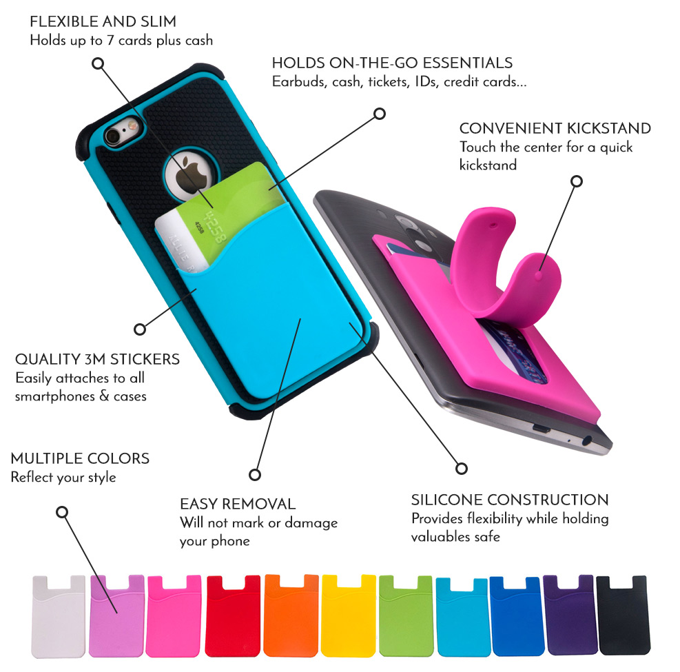 wholesale dealer cc9a3 831fd Design | Sticky Smart Wallet | Silicone Smartphone Wallet