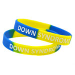 Silicone Bracelet_2 Tone Color_Down Syndrome