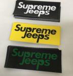 Supreme Jeep Stickers 3 colors
