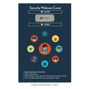 Optional webcam cover backer card